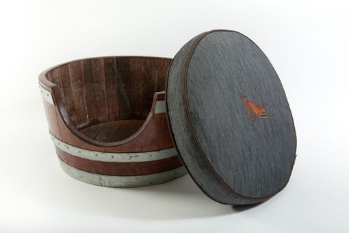 Custom Made Wine Barrel Pet Bed
