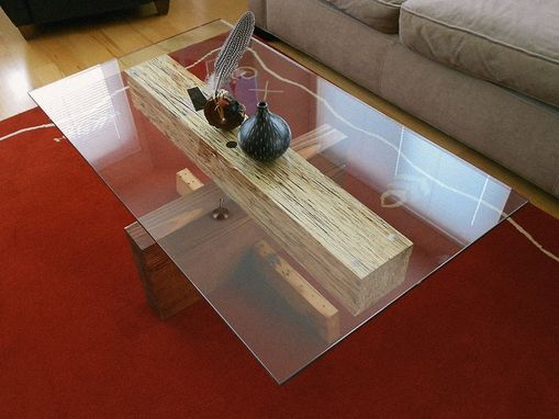 Custom Made Lvl Glass Top Table