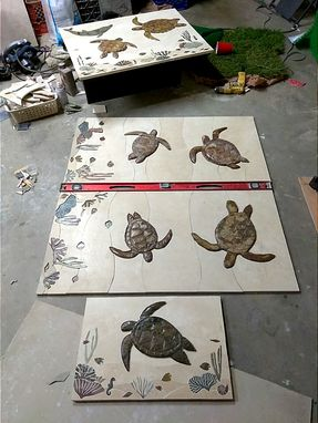 Custom Made Sea Life Reef Murals.  Turtles  Dolphins, Manta Ray, Whales.