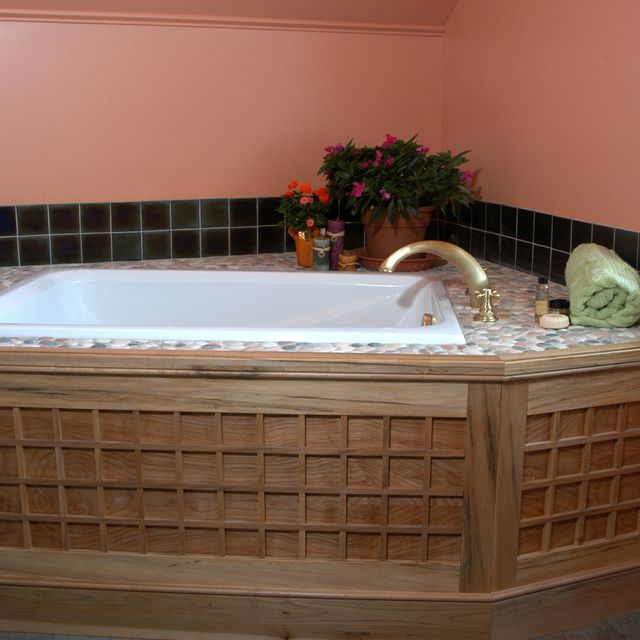 Handmade Soaking Tub Surround by Homecoming Woodworks | CustomMade.com