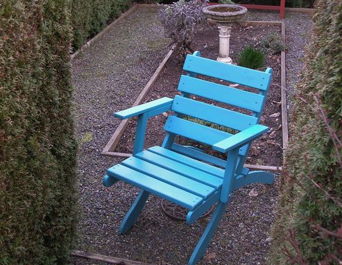 Custom Made Handcrafted Cedar Outdoor Armchair - Available In 16 Stain Colors!