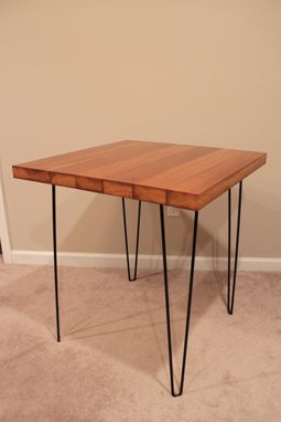 Custom Made Hairpin Solid Iroko Table