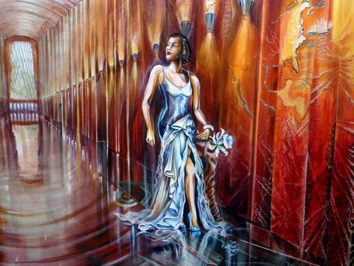 Custom Made Dagney Taggart Atlas Shrugged Art Deco Persephone, Manhattan Muralist Western Union Lobby Interior