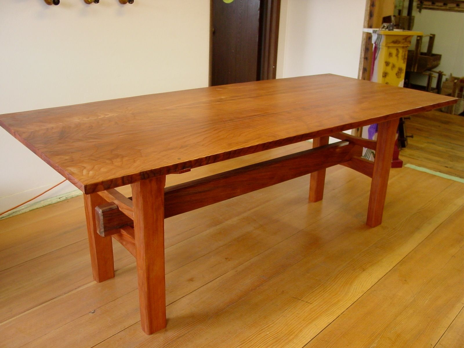 Handmade Redwood Table With Japanese Joinery By Heritage
