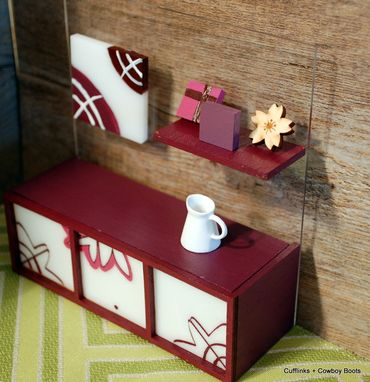 Custom Made Customized Dollhouse Dresser From Video