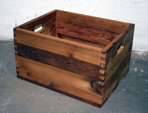 Custom Made Reclaimed Cedar Box Joint Crate