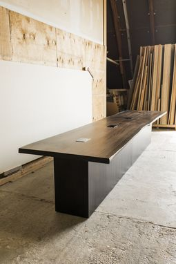 Custom Made Wood Conference Table