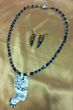 Custom Made Nefertiti Earrings And Necklace Set