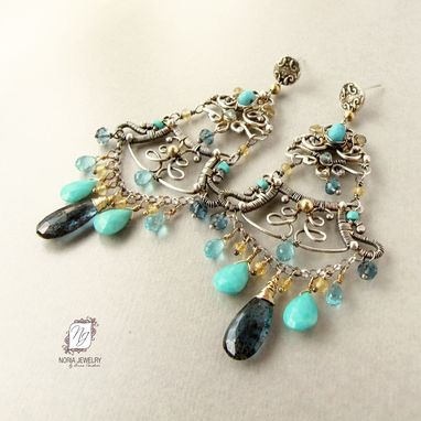 Custom Made Large Chandelier Earrings, Indian Bollywood Style