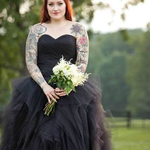 Buy Custom Black Gothic Wedding Dress, made to order from Wedding ...
