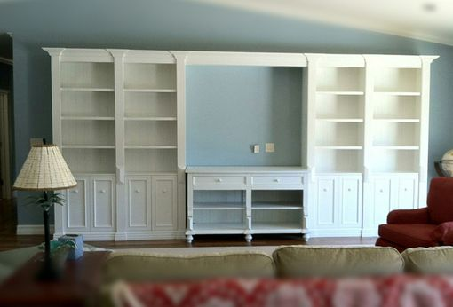 Custom Made Transitional White Entertainment Unit.