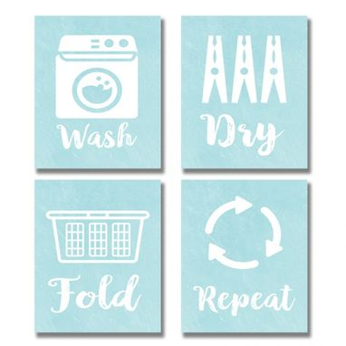 Custom Made Laundry Canvas Art Wall Art Set Of 4