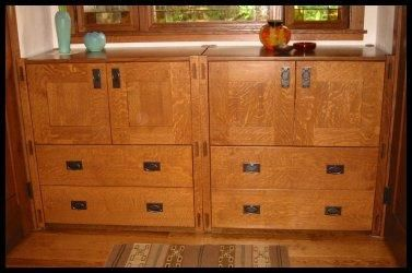 Custom Made Craftsman Style Furnishings - Cabinets