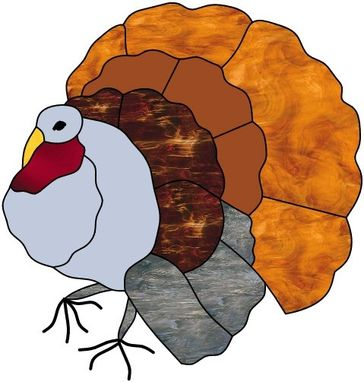 Custom Made Fall Turkey window hanging