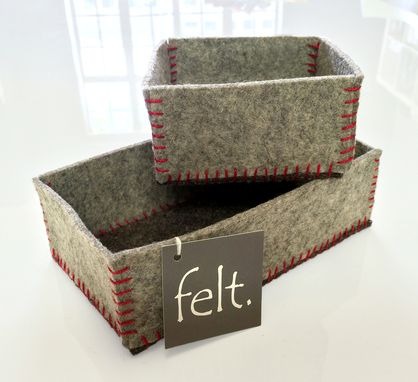 Custom Made Wool Felt Boxes + Vessels