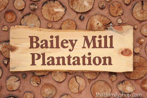 Custom Made Large Engraved Rustic Cabin Sign/Welcome Plaque
