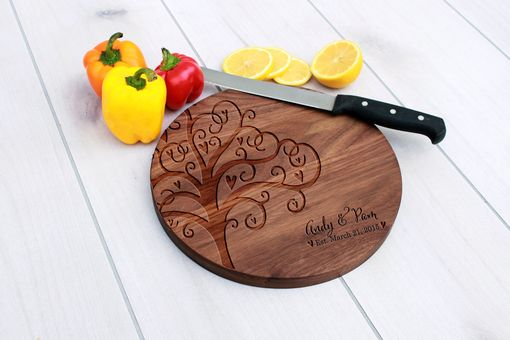 Custom Made Personalized Cutting Board, Engraved Cutting Board, Custom Wedding Gift – Cbr-Wal-Andy & Pam