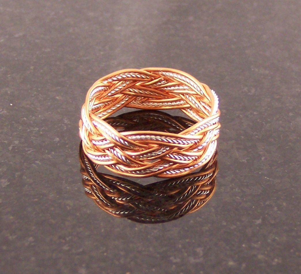 Buy a Handmade Copper & Sterling Silver Wire Rope Turk\'s Head Knot ...