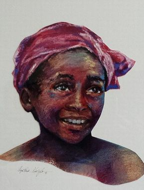 Custom Made Oil Pastel Portraits For Sale- Happy Children