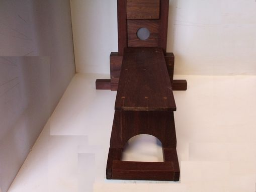 Custom Made Medieval Execution Victorian Style Wood Guillotine