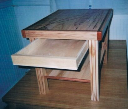 Custom Made Mirrored Curves And Grid-Style Inlaid Coffee Table