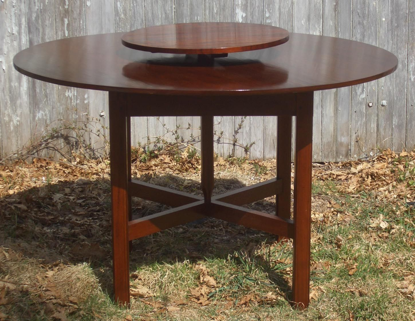 Custom Lazy Susan Table By Liberty Carvings Inc
