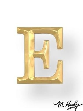 Custom Made Brass Monogram Letter E