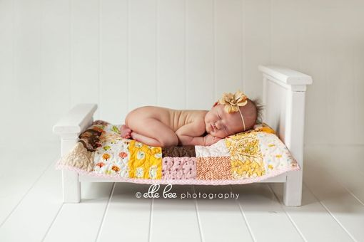 Custom Made Newborn Photography Prop Bed With Bedding Set
