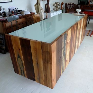 Custom Made #11 Assorted Reclaimed Red Wood Reception Desk