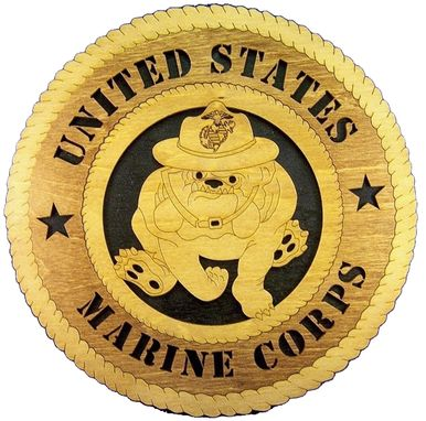 Custom Made Marine Corps Wall Tribute, Marine Corps Hand Made Gift