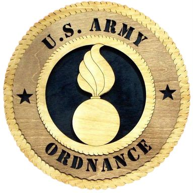 Custom Made U.S Army Ordnance Wall Tribute, U.S Army Ordnance Hand Made Gift