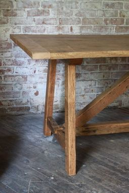 Custom Made Reclaimed Oak Harvest Table