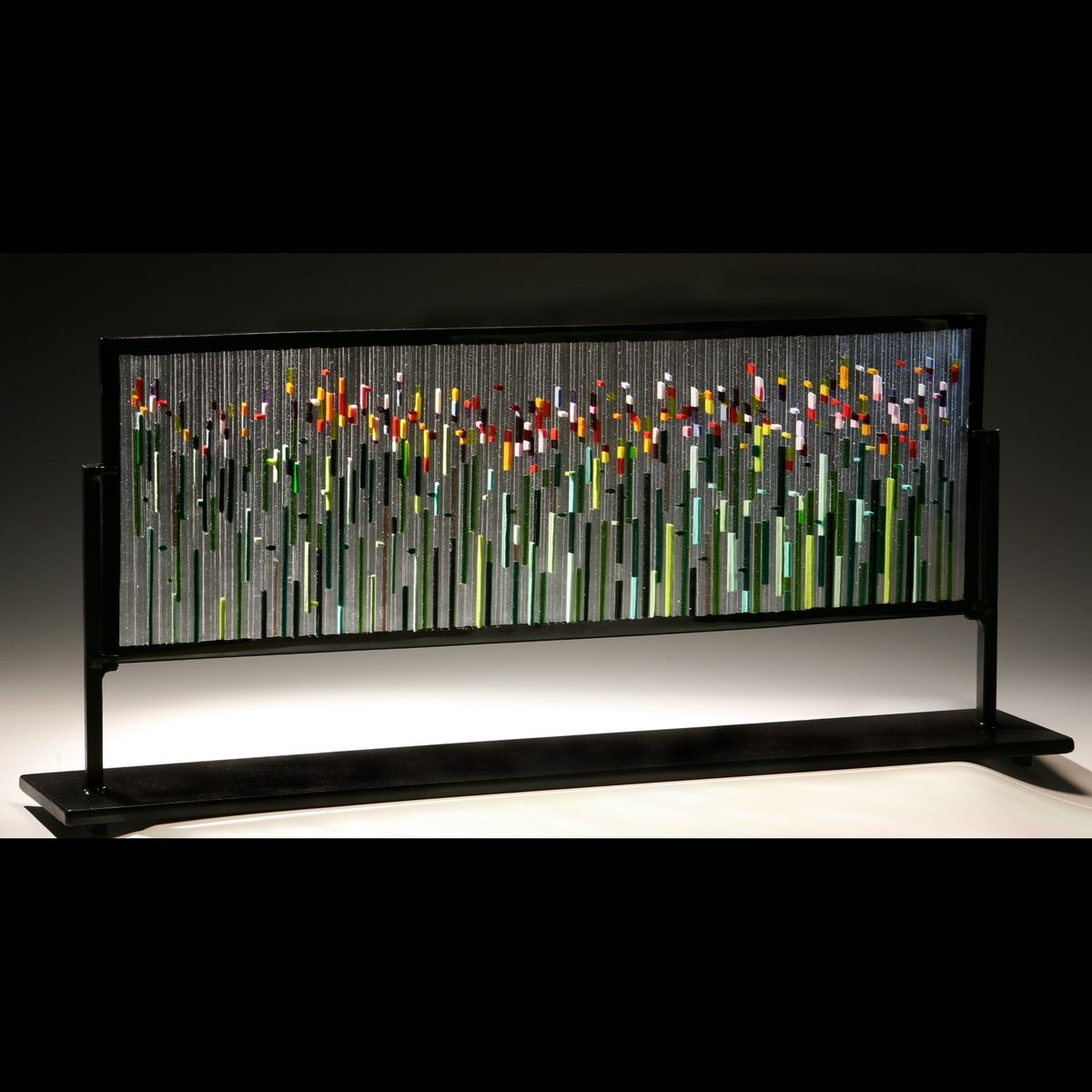 Hand Crafted Fused Glass Sculpture By Glass Art Of