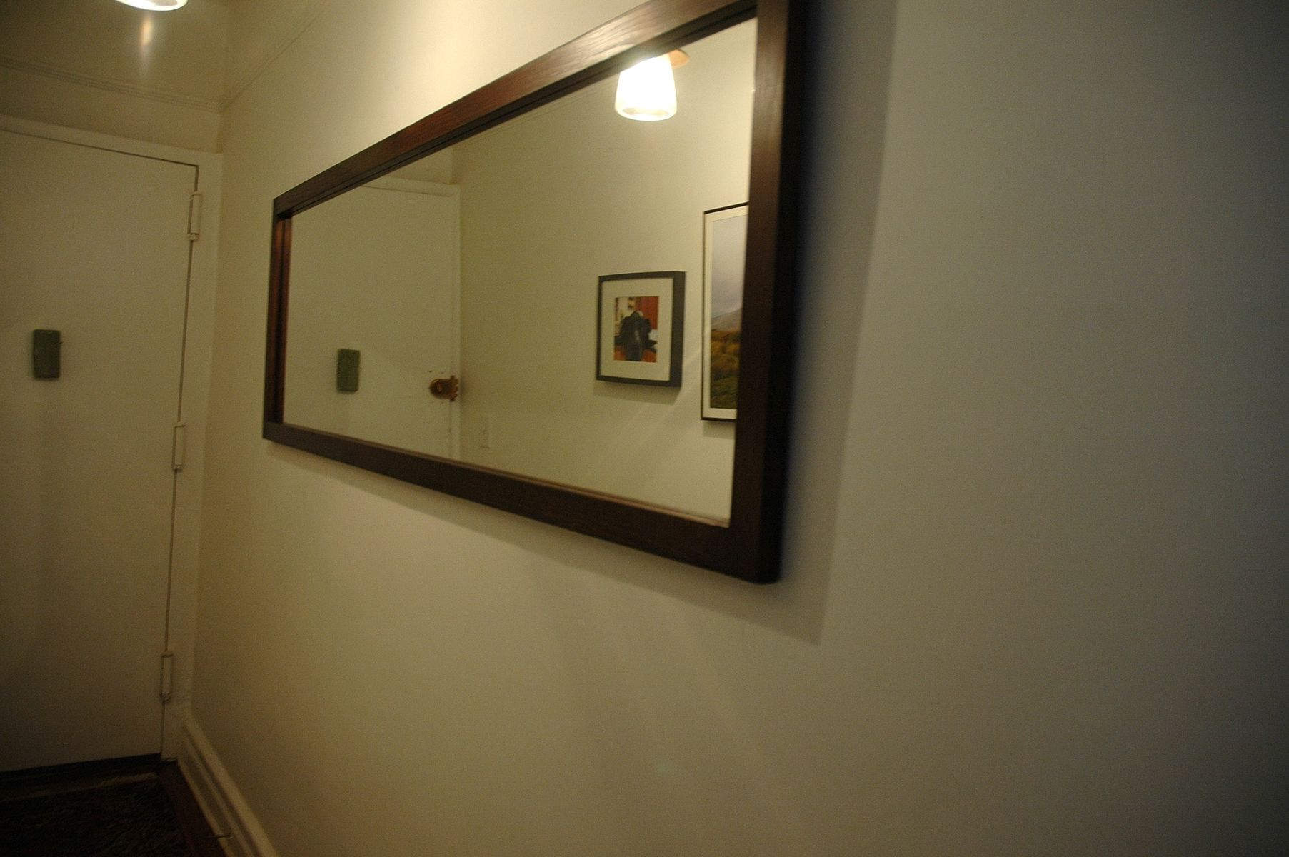 Handmade long hallway mirror by wooden it be nice for Long wall hanging mirrors
