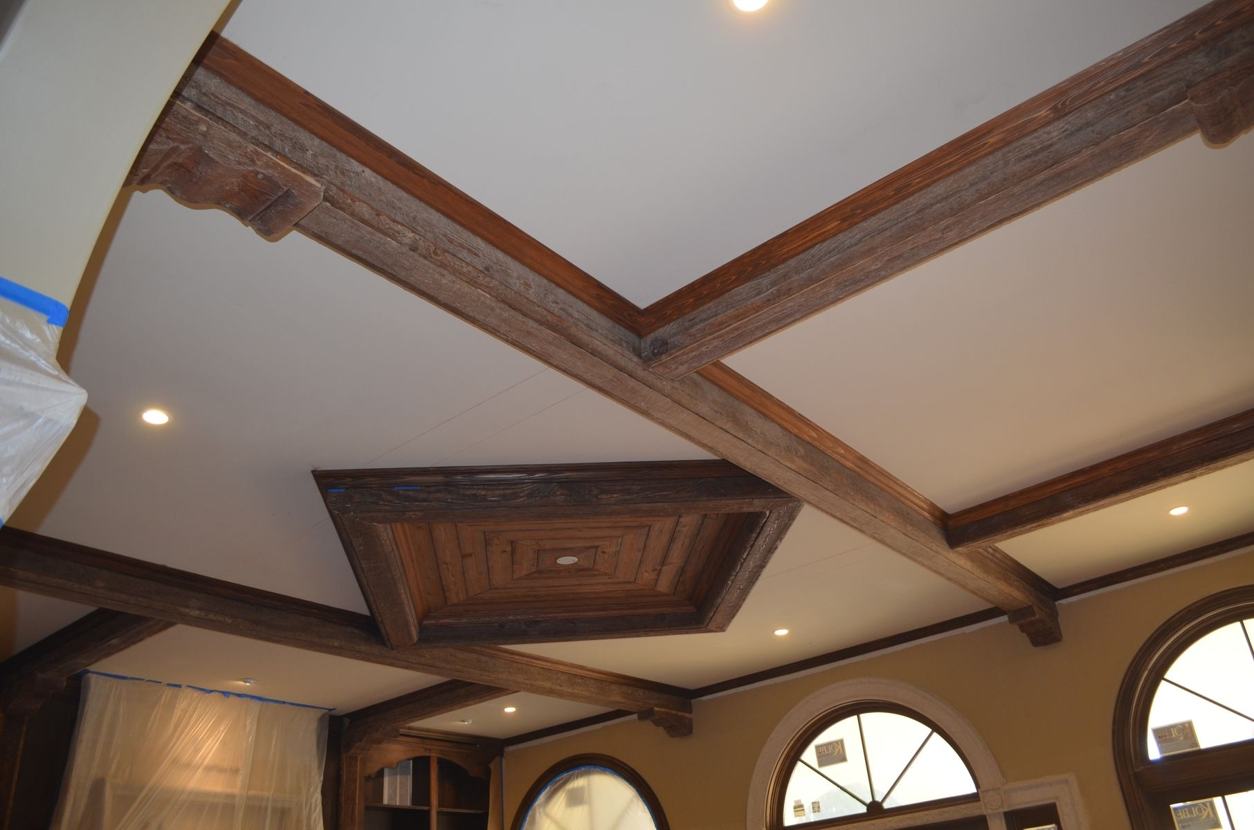 Hand Made Rustic Beams And Ceiling Diamonds By Weck Design