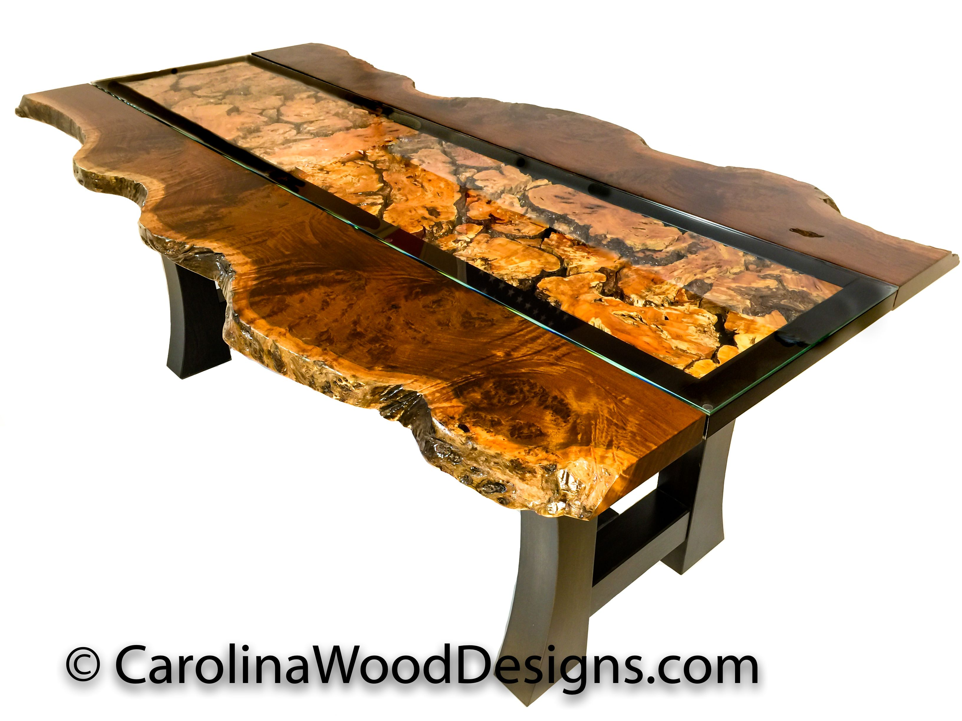 Buy a Hand Crafted Ipe Burl Table With Live Edge made to order