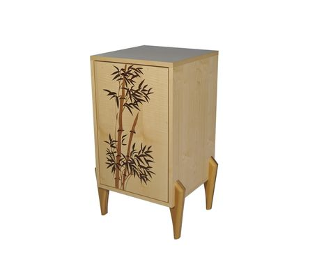 Custom Made Bamboo Pedistal Cabinet