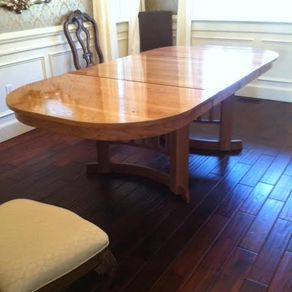 Cherry Oval Dining Table Extends To 8 Ft