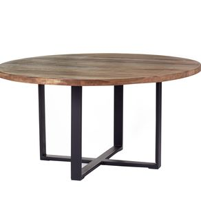 Rustic Dining Tables CustomMadecom - Rustic round breakfast table