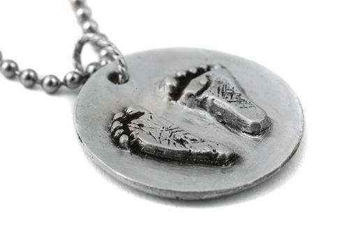Custom Made Actual Footprints In Solid Sterling Silver