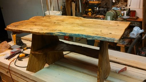 Custom Made Spalted Water Oak Live Edge Coffee Table