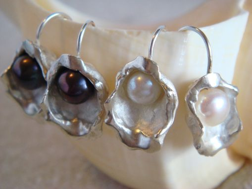 Custom Made Oyster Earrings With Cultured Pearl