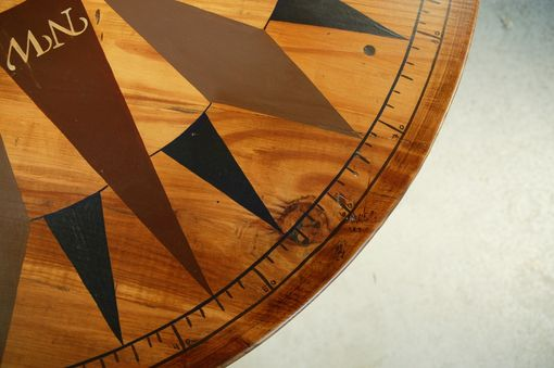Custom Made Hand Painted Compass On Coffee Table