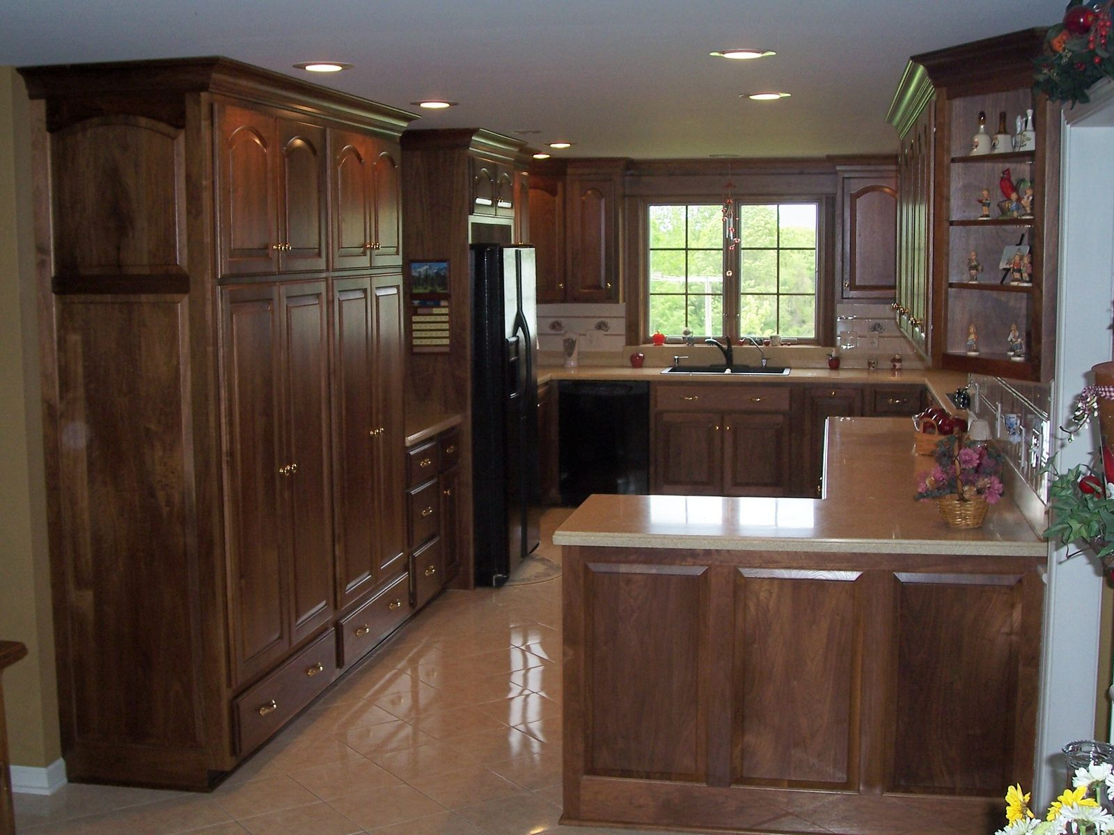 natural walnut kitchen cabinets handmade black walnut kitchen by jeffrey william 3458