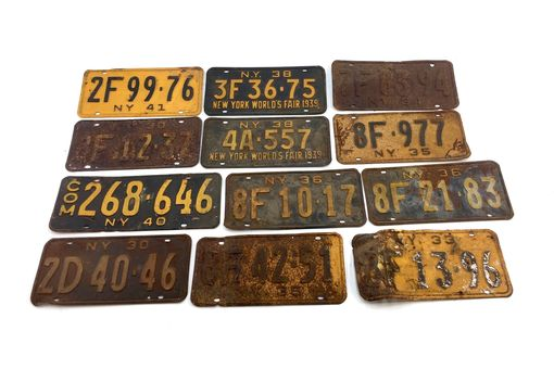 Custom Made Antique New York State License Plates - Storiedboards - #B17005
