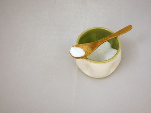 Custom Made Ceramic Salt Cellar, Small Cup, Stoneware Sugar Bowl