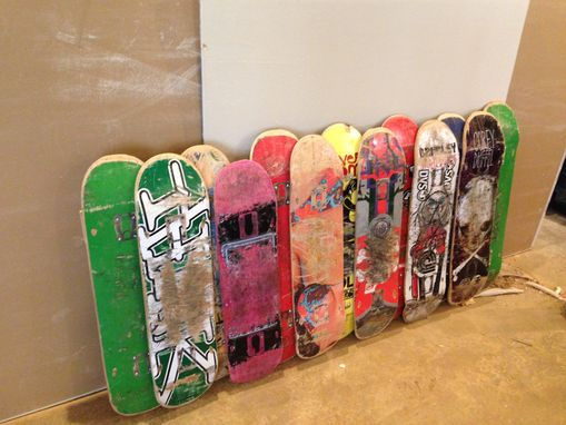 Skateboard Headboard buy a custom upcycled skateboard headboard and queen bed frame