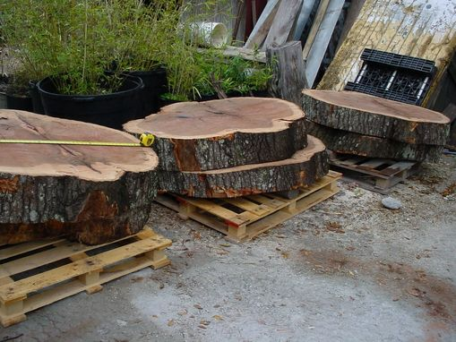 Custom Made Cypress Slabs, Oak Slabs Natural Tree Trunk Shapes