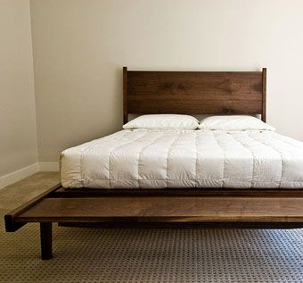 Custom Made Walnut Tapered Bed