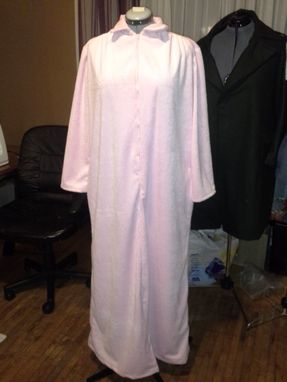 Custom Made Long Women's Robe With Zipper
